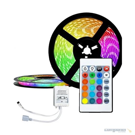 Fita Led 5 Metros 5050 A Prova D'agua Colorida RGB + Controle ip65